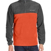 S码、凑单品: Columbia 哥伦比亚 Steens Mountain 男士1/4拉链抓绒夹克$15.82(折¥101.25)