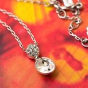 Swarovski施华洛世奇 Vanita 镶钻透明水滴项链 5035876