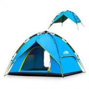 polarcap 极卡 液压双层浅蓝色3-4人帐篷