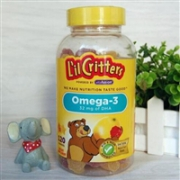 Lil Critters omega-3 儿童DHA鱼油软糖 120粒*3瓶装