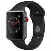 Apple 苹果 Watch Series 3智能手表 42毫米 (GPS+蜂窝网络 运动型表带 ) 黑色