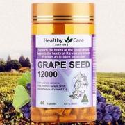 Healthy Care 葡萄籽提取物胶囊12000mg*300粒 澳洲进口 美白肌肤