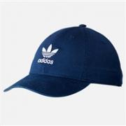 ADIDAS阿迪达斯PRECURVED WASHED STRAPBACK蓝色款棒球帽