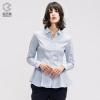 CK制造商!鲁泰佰杰斯 女士修身纯棉长袖提花衬衫 58元包邮¥58.00 1.7折