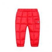 清仓好价:Ponie Conie 儿童冬季保暖方格羽绒裤厚款29元