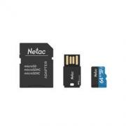 Netac 朗科 P500 64G Class10存储卡套装(内存卡+读卡器+SD卡套)119.9元包邮