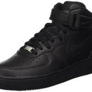 Nike Women's Air Force 1 Mid '07 LE Black/Black Basketball Shoe 女高帮运动鞋 到手约348.58元¥311.51