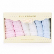 预售,Purcotton 全棉时代 婴幼儿水洗纱布手帕25×25厘米×6条