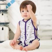 A类标准!特贝尔  婴儿纯棉连腿肚兜睡衣 19元包邮(29-10)¥19.00 2.4折