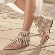限尺码,Sam Edelman 女士Griffen真皮流苏平底鞋 新低$32.5