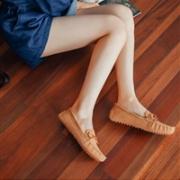 网易严选 女士休闲一脚蹬豆豆鞋 棕色秒杀价¥146.3包邮