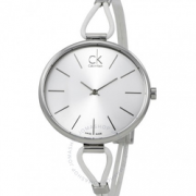 CALVIN KLEIN Selection银色表盘白色皮革女士手表$49.99(折¥319.94)