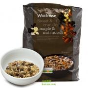 Waitrose 枫糖和坚果混合什锦早餐麦片 1kg*2袋  £12包邮包税约¥107(需用优惠码)