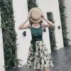 时尚俏皮# 女夏季bf港风漏肩小清新裙2件套118元包邮(148-30券)