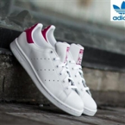 Adidas阿迪达斯 Stan Smith粉尾大童款