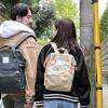 ANELLO 帆布印花休闲双肩包 AT-B0487 小号折后新低2678日元(约¥156)