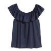 H&M 女童荷叶边无袖T恤29.9元