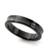 TIFFANY & Co 1837系列 MIDNIGHT午夜黑 NARROW RING 钛金窄款戒指21546日元约¥1258
