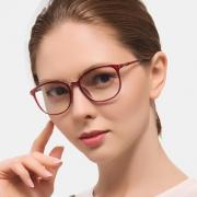 乐申 9805 女士平光防辐 近视眼镜