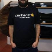 Carhartt 男士 Core 时尚字母印花T恤