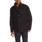 Nick Graham 男式 triboro 3合1羊毛外套带背心