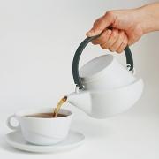 Kinto Ridge系列 白瓷茶壶 带滤网 750ml