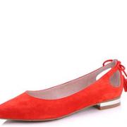 Belle 百丽 女士羊绒皮尖头流苏单鞋  多色 228元
