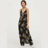 H&M 女装夏季新款超长围裹式V领连衣裙79元包邮(已降50元)