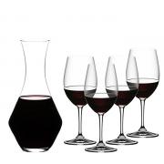 RIEDEL 礼铎 Accanto系列 波尔多红酒杯 4只装+ 梅洛型醒酒器1只