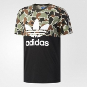 adidas阿迪达斯 S/S CAMO COLOR 男子短袖上衣