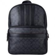 COACH 蔻驰 奢侈品 男士黑灰色PVC双肩背包 F23210 MWN3A*2件