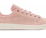 限尺码福利!adidas Originals Pink Suede Stan Smith女士运动鞋$49.00(折¥313.60)