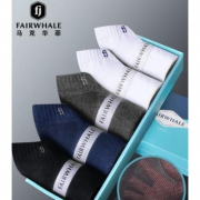 Mark Fairwhale 马克华菲 男士夏季网眼纯棉船袜 5双礼盒装