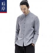 后序 中国风男士棉麻衬衫 多色¥128
