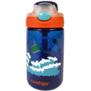 Contigo 康迪克 一键开启密封儿童吸管杯水杯 400ml 海洋蓝色