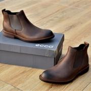 ECCO 爱步 Kenton Chelsea 男士真皮切尔西短靴