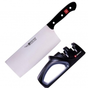WUSTHUF  三叉 9282 中式菜刀 磨刀器
