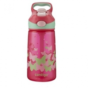 Contigo 康迪克 一键开启密封儿童吸管杯水杯 400ml 粉色蝴蝶Prime会员凑单免邮,到手价73.54元