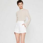 ME&CITY  女士钉珠装饰高腰短裤