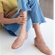 Stuart Weitzman 女士Bolshoi Napa 软羊皮芭蕾平底鞋