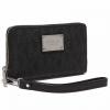 PLUS会员:MICHAEL KORS迈克·科尔斯 女士黑色PVC英文印花长款钱包515元包邮(1件5折后)