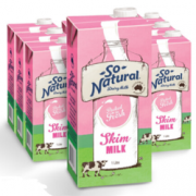 So Natural 澳伯顿 脱脂UHT牛奶 1L*12盒  折55.6元(立减)¥55.60 2.9折 比上一次爆料降低 ¥2.4