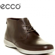 43码+,ECCO 爱步 格勒诺 男士真皮高帮休闲鞋3.5折新低$63,到手 ¥525
