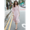 Vero Moda 新款层叠装饰喇叭七分袖蕾丝连衣裙349元包邮(已降150元)