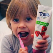 Tom's of Maine 儿童草莓味防蛀牙膏119g*6支Prime会员免邮到手约¥149