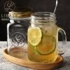 Libbey 利比 进口玻璃梅森杯 送勺+瓶盖¥15