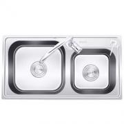 KEGOO 科固 K10002 304不锈钢水槽双槽 + 全铜冷热龙头套装