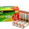 10倍耐用!GP 超霸 5号/7号碱性电池 24粒¥19.90 3.8折 比上一次爆料降低 ¥10