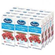 Ocean Spray 优鲜沛 蔓越莓 减糖90% 低卡果汁饮料 1L*12瓶