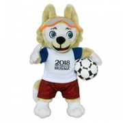 FIFA 2018世界杯官方吉祥物玩偶扎比瓦卡 官方授权